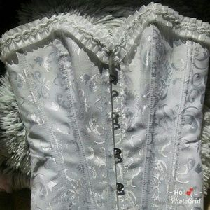 Other - Women's white lace up corset